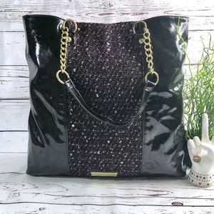 EUC Betsey Johnson Faux Patent Leather Tote